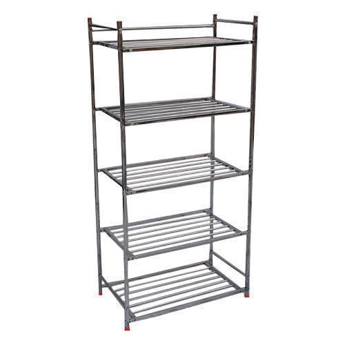 2 - 3 Feet Free Standing Unit Stainless Steel Shoes Rack, 4