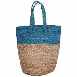 Brown Hand Braided Jute Hand Bag