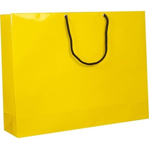 Yellow Kraft Paper Carry Bag, Bag Size: 10x13 Inch