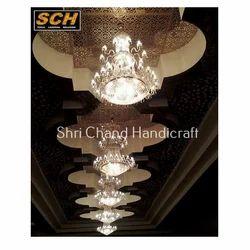 Glass White Event Chandelier Round Light
