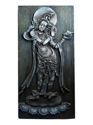 Lord Vishnu Holding Shankh Hanging Painting In 3D