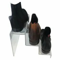 Transparent Acrylic Shoes Display Stands, Size: 8x15 Inch