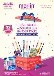 Toothbrush Customized Assorted Box Hanger Packs