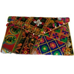 Ethnic Kantha Embroidered Clutch