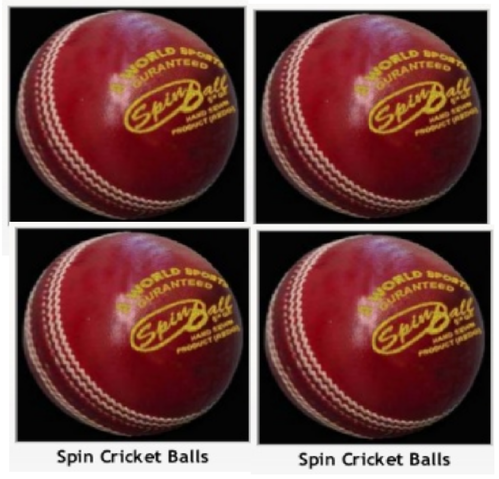 Red Spin Cricket Ball
