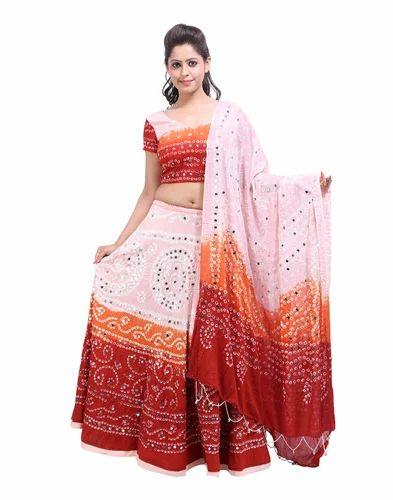 c1003551ab Women S Cotton Mirror Work Lehenga Choli Rs 1056 Piece Genera