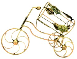 Nirmala Handicrafts Iron Crafted Bicycle Bottle Holder Home/Table Decor Piece
