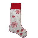 Hh White And Red Christmas Stocking