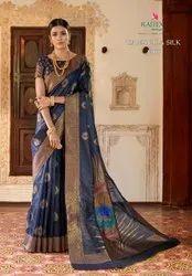Thankar Printed Rajtex Heavy Designer Weaving Silk Saree With Blouse Piece