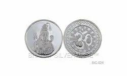 Pure Silver Lord Shiva Coin