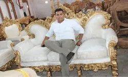 Velvet Living room Set, For Home, Size: King Size