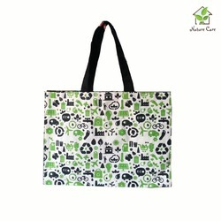 Canvas Bag With Eco Concept Print