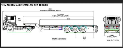 TATA 40FT 3 Axle Flatbed Trailer, 7M 2A FB-3518 | ID