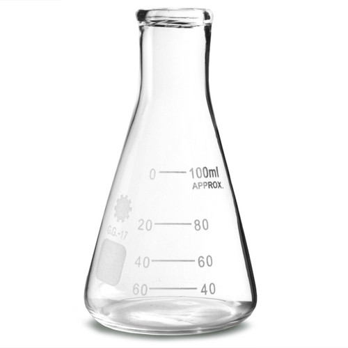 Glass Transparent Conical Flask, for Chemical Laboratory
