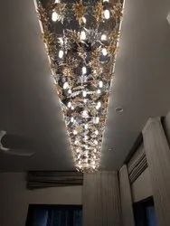 Glass Leaf Chandelier