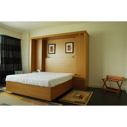 Murphy Bed Price In India: Wood Street Brown And White Bed Room-Murphy Bed Set, Rs