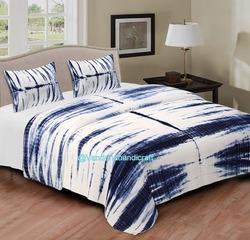 Tie Dye Print Double Bed Sheet