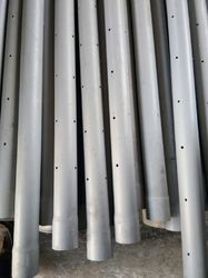 Grey Perforated PVC Pipes, Length: 6 m