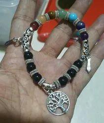 Seven Chakra Metal Bracelet