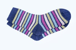 Ladies Woolen Striped Socks