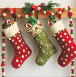 Sourabh Export Multicolor Felt Christmas Stockings, Size: 18 Inch
