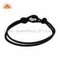 Black Cord Designer 925 Fine Silver Elephant Bracelet Jewelry