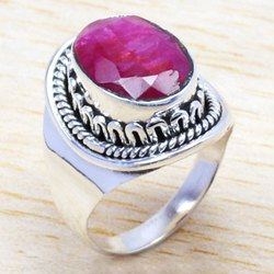 Ruby Gemstone Ring 925 Sterling Silver Jewelry