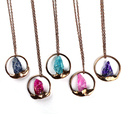 Multi Color Rough Quartz Pendants
