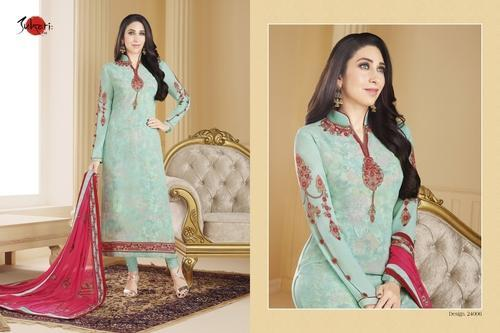 139e322e3e027 Semi-Stitched Bridal Wear Collar Neck Full Sleeve Salwar Suit, Rs ...