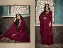 Embroidered Thread Pakistani Suit Maisha 7409, Dry clean