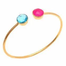 Gemstone Bangle Adjustable Bangle Cuff Bracelet