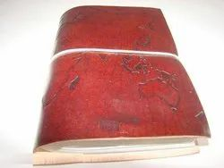 World Map Designer Genuine Leather Diary