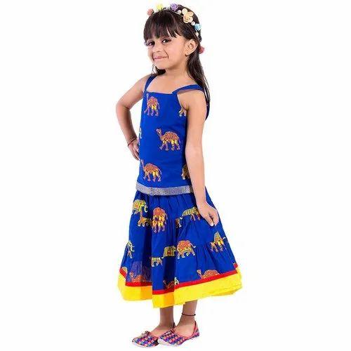 Cotton Jaipuri Bandhej Kids Indo Western