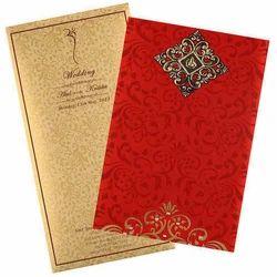 Rectangular Paper Designer Wedding Cards
