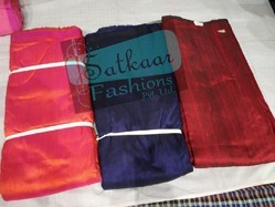 Raw Silk Embroidered Season is changing