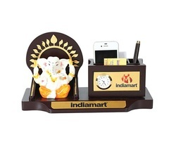 Sai Enetrprises Wooden Desktop Product with Ganesha