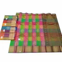 Golden Work Pure Silk Saree