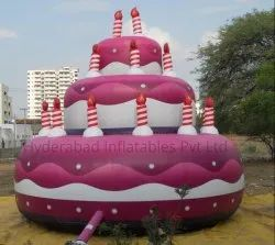Inflatable Promotional Birthday Cake
