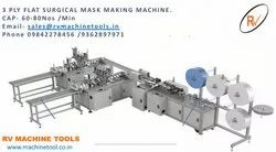 3 Ply Surgical  Fully Automatic Mask Making Machine