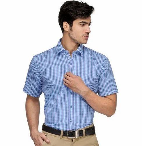 Men Cotton Formal Half Shirt