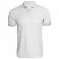 White Plain Men Cotton T-Shirts, Size: Small, Medium, Large