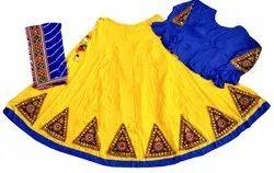 Women Navratri Special Rayon Cotton Gujarati Ghagra Choli