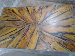Epoxy wood table