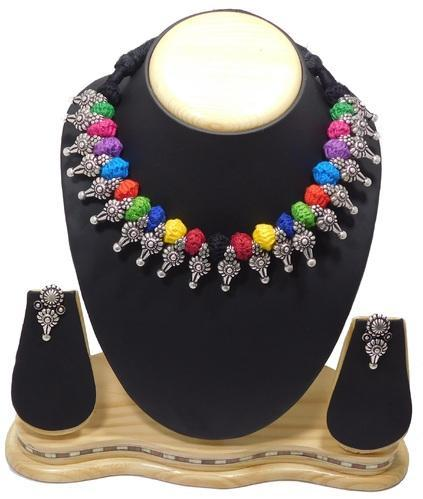 3483d5ea42 Antique Oxidized Silver Plated Thread Jewellery at Rs 275 /piece ...