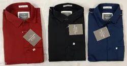 Cotton Collar Neck Branded Mens Plain Shirts