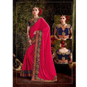 Ladies Velvet Saree