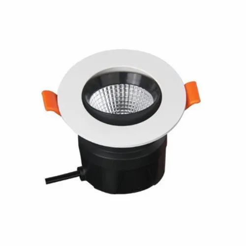 Round ORLO 6W COB Integrated Downlight, 140-285v Ac, IP Rating: IP20