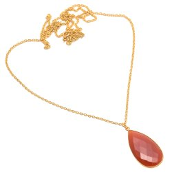 Carnelian Long Chain Necklace