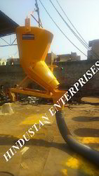 Tower Crane Banana Concrete Bucket with Hose Pipe Arrangement