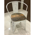 Iron And Reclaimed Wood Chair